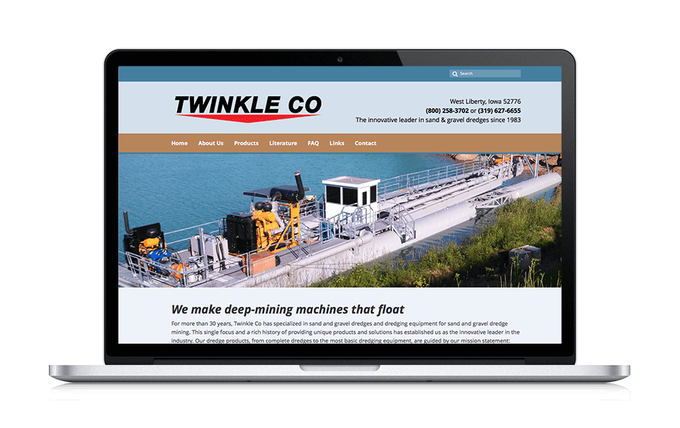 Iowa Website Design Work Big Imprint Twinkle Co