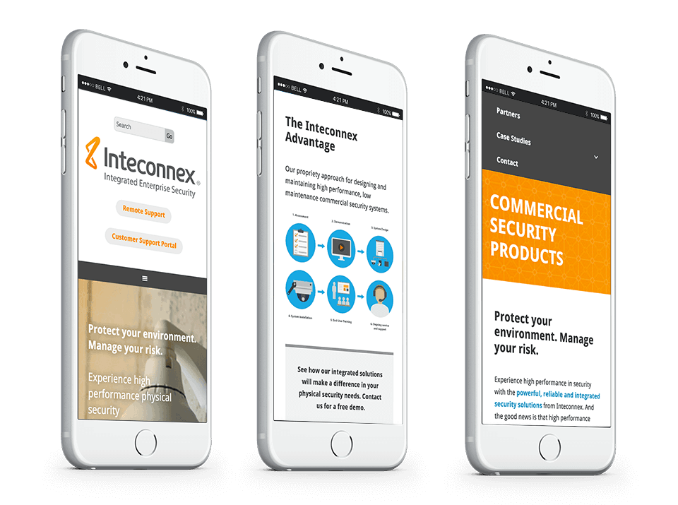 muscatine website design for industry on phone