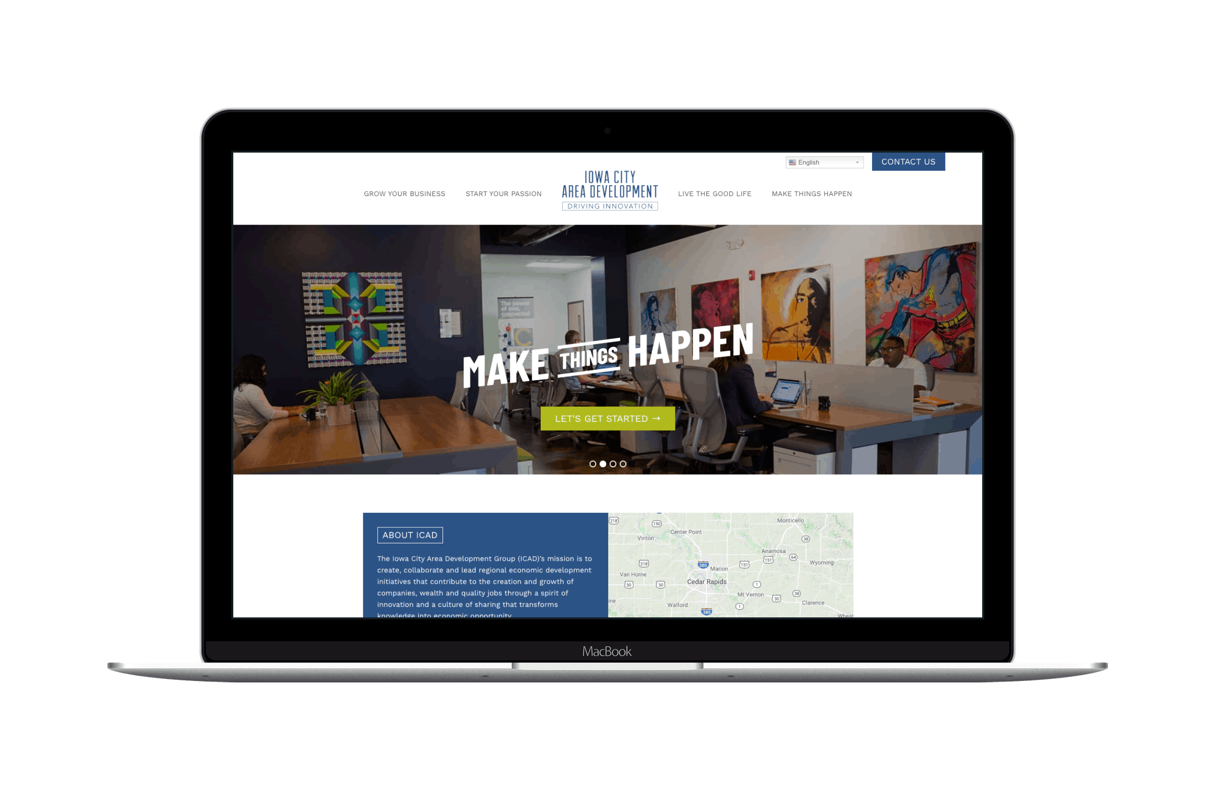 Iowa City Area Development Website Design