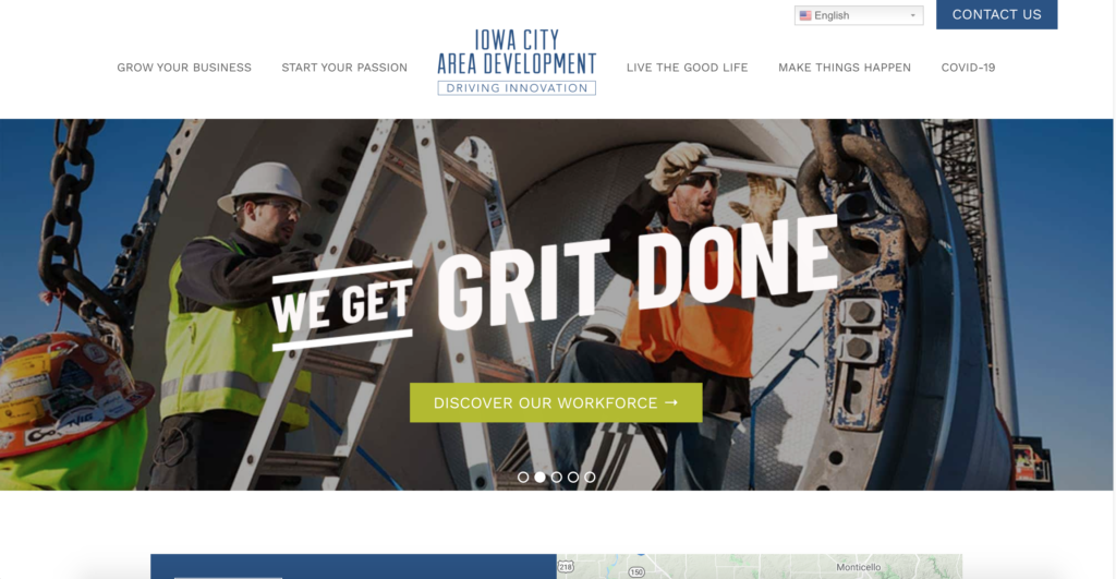 Iowa City Website Design - Iowa City Area Development