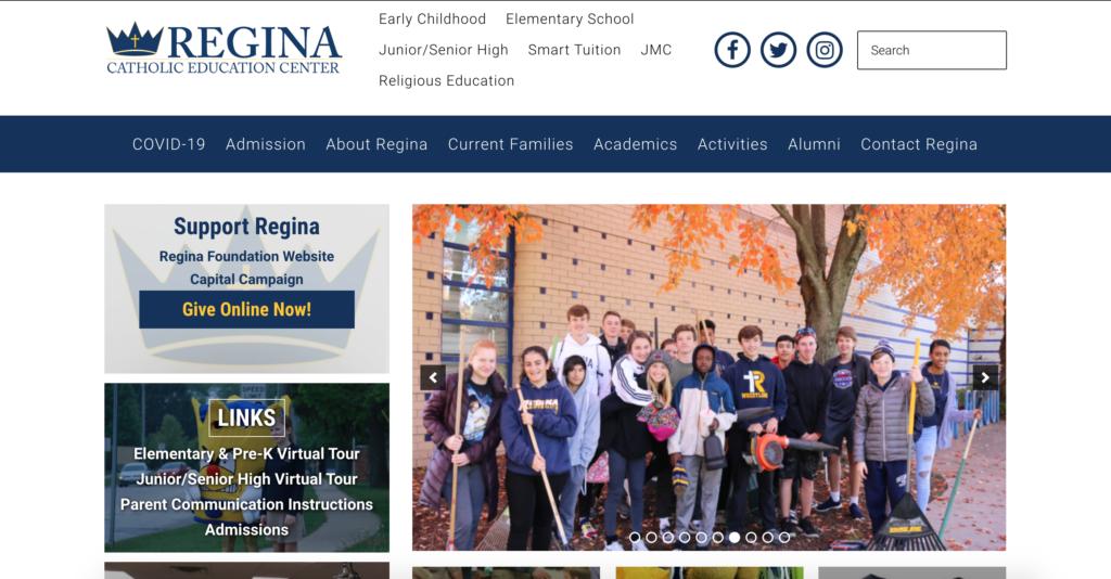 Iowa City Website Design - Regina